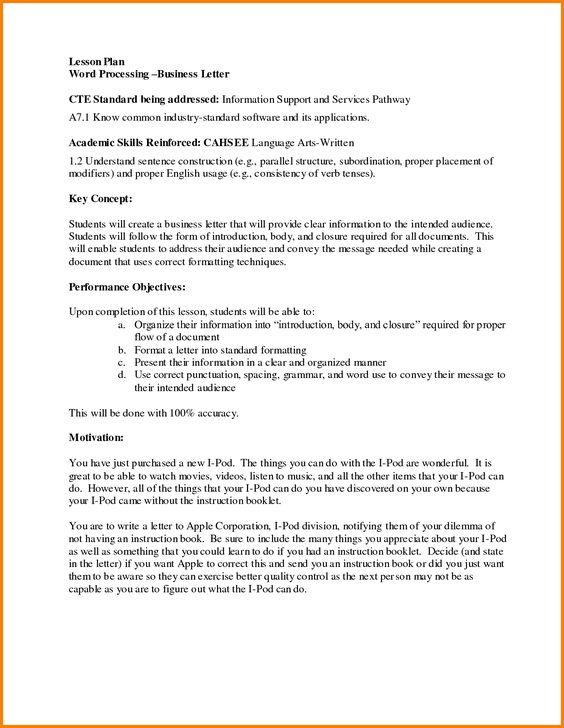 Formal Letter Spacing Budget Template Regarding Business Format