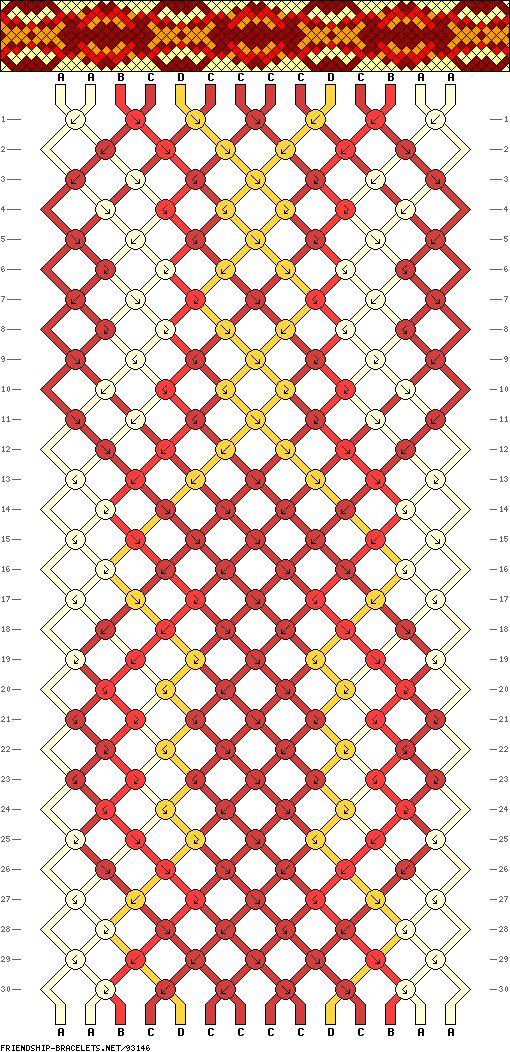 Muster # 93146, Streicher: 14 Zeilen: 30 Farben: 4