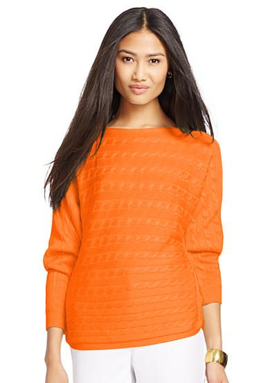 Lauren Ralph Lauren Cable-Knit Dolman Sweater