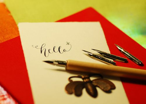 Calligraphy by Emilie Friday