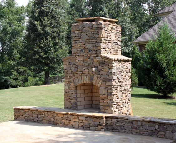 20 Beautiful Outdoor Stone Fireplace Designs Fireplace