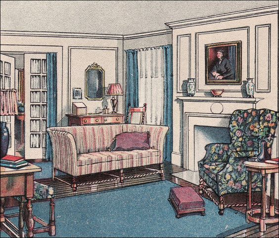 Colonial Living Rooms And Ladies 39 Home Journal On Pinterest