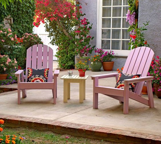 You can build these Adirondack Chairs! The Home Depot teamed up with