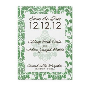 Damask Pattern - Save The Date (25 pack)