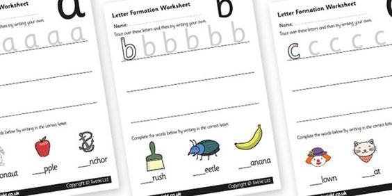 letter formation worksheets and learning to write on pinterest. Black Bedroom Furniture Sets. Home Design Ideas
