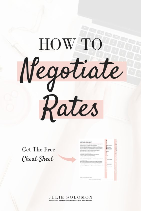 3 Steps to negotiate rates like a pro. Start growing your business, grow your income negotiating your rates. Julie Solomon #makemoney #Business #blogging #JulieSolomon