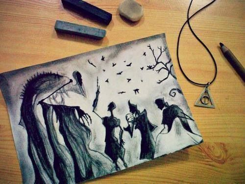 Deathly Hallows drawing