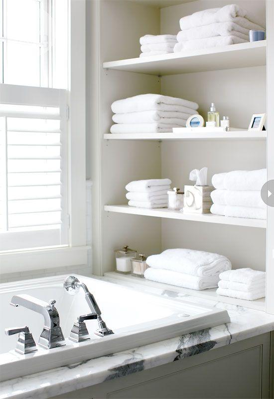 . Bathroom   Bathrooms decor  Open shelving and Decks