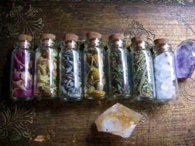 rose petals, jasmine, lavender, chamomile, maiden hair, rosemary and sea salt! Always be prepared!