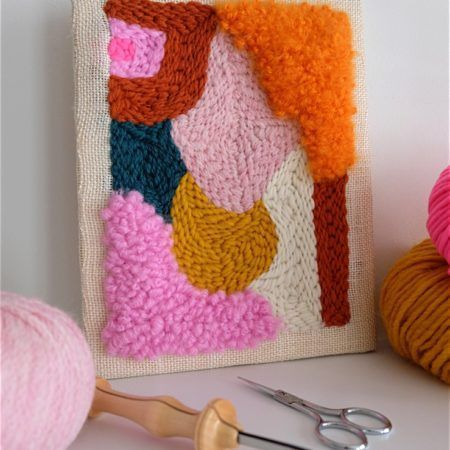 I am loving this punch needle piece! Great colors and texture!