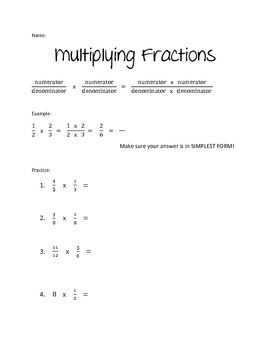 Multiplying and Dividing Fractions Guided Notes & Practice ...