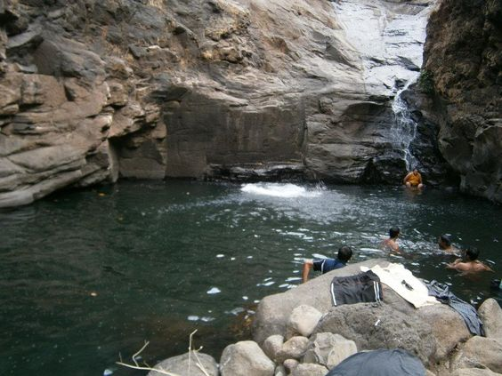 There are places like these to cool off at, during the trek.