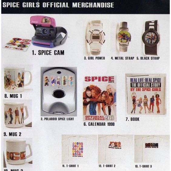 """Official Spice Girls Merchandise 1997/1998! Which ones did you have?! ✌️⌚️ #spicegirls #Spiceworld #merchandise #girlpower #90s #Sporty #Baby #Scary…"""
