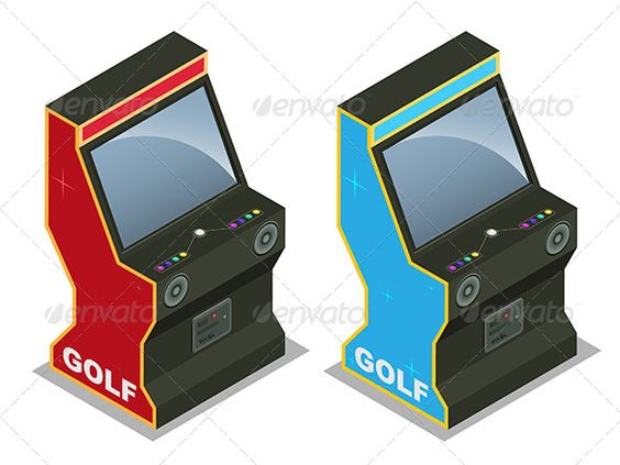 Golf Machine  #GraphicRiver         Two Golf machines in Isometric angle. Both machines are in separate layer for easy use.     Created: 18June13 GraphicsFilesIncluded: VectorEPS Layered: Yes MinimumAdobeCSVersion: CS3 Tags: CoinOperated #arcade #button #casino #colour #entertainment #fun #game #golfmachine #isometric #joystick #leisuregame #machine #screen #vector #videogame