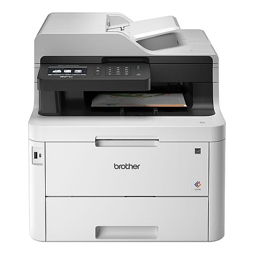 Brother Mfc L3770cdw Color All In One Laser Printer With Wireless Duplex Printing And Scanning At Staples In 2020 Multifunction Printer Brother Mfc Laser Printer