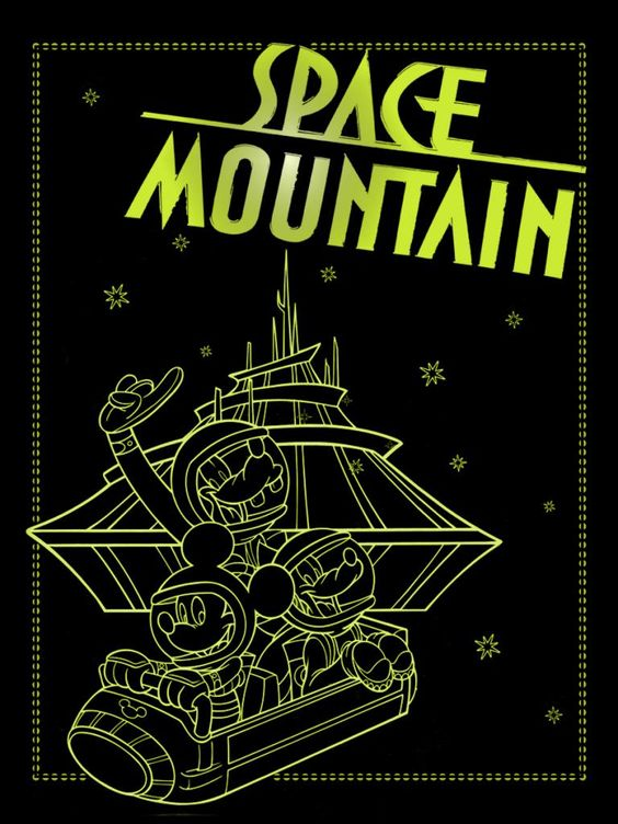 "Space Mountain  - Project Life Disney Filler Card - Scrapbooking. ~~~~~~~~~ Size: 3x4"" @ 300 dpi. This card is **Personal use only - NOT for sale/resale** Logos/clipart belong to Disney. ***"