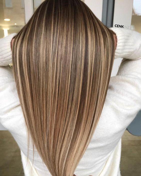 64 Stilvolle Glatte Ombre Frisuren Frisur Lange Haare Pony Haarschnitt Lange Haare Braun Blonde Haare