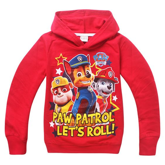 New 2015 Boys Hoodies Paw Patrol Clothes Children's Sweatshirts For Boys Cartoon Casual Kids Hoodies Boys Girls Tops Costume