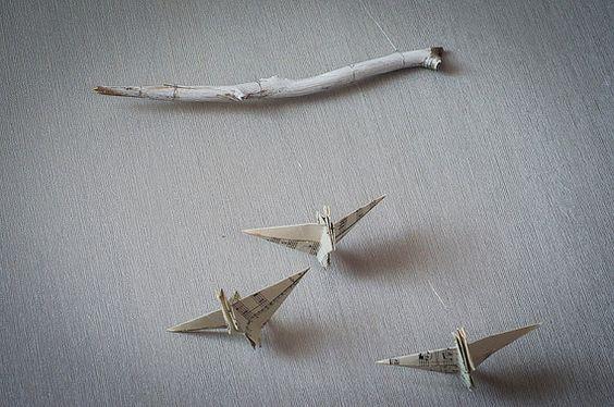 #grue #origami #mobile #diy