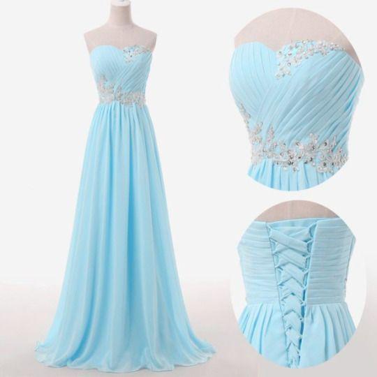 Light Blue Prom Dresses,Sweetheart Evening Gowns,Modest Formal Dresses,Beaded Prom Dresses,2016 Fashion Evening Gown,Corset Evening Dress
