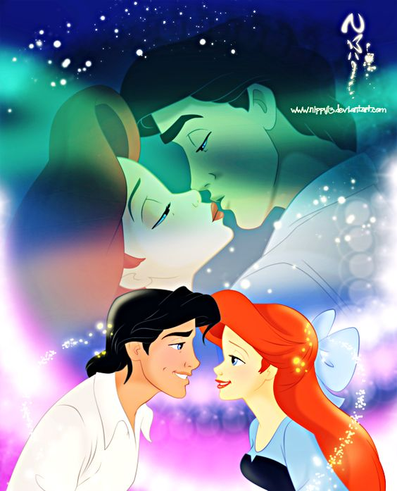 Walt Disney Fan Art - Princess Ariel & Prince Eric - walt ...