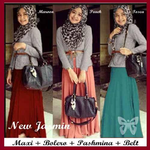 Baju Gamis Modern Terbaru Model Setelan Baju Muslim New