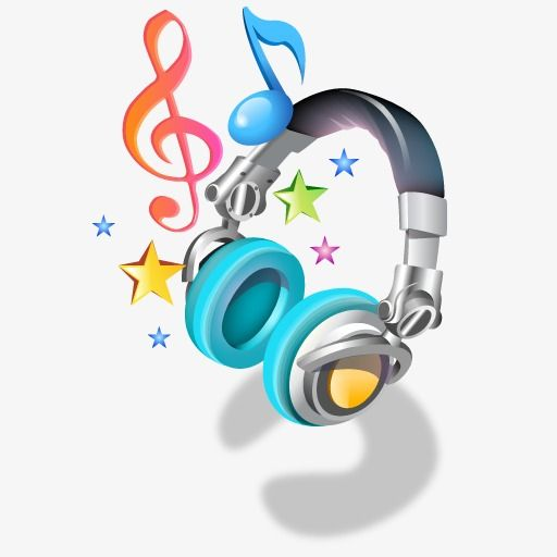 Cartoon Music Headphones Music Headphones Headphones Clip Art