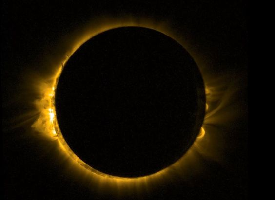 The Solar Umbra as seen from a Earth bound observatory during a eclipse.