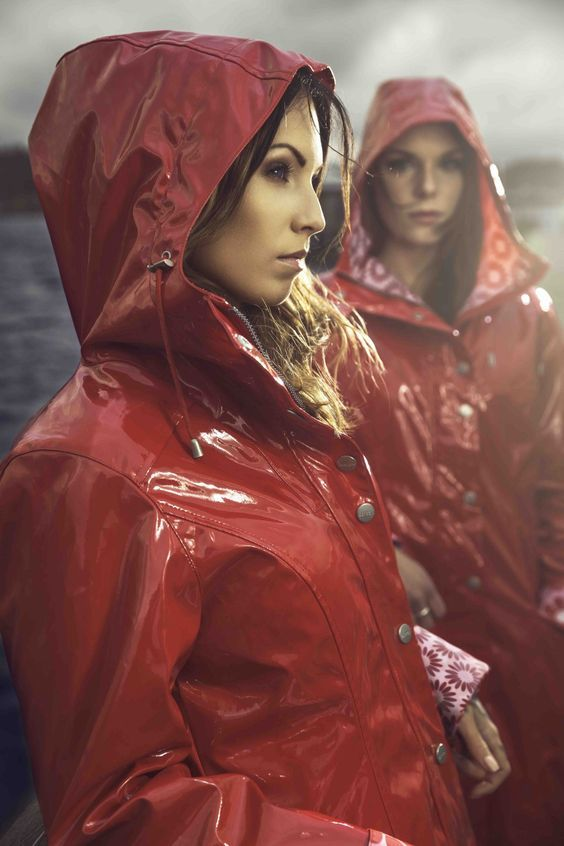 Ösregn Shiny Raincoat | Rain wear, Raincoats for women, Red