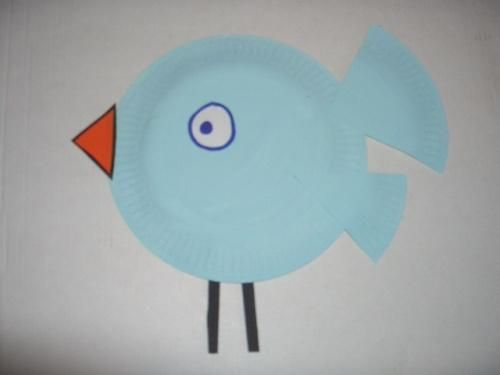 DIY Kids Crafts : DIY Spring Bluebird Paper Plate Craft