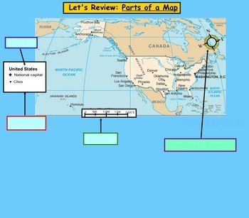 Label Parts Of A Map Worksheet - Printable Worksheet