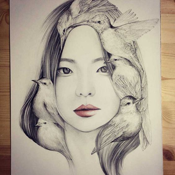 The-Girl-and-The-Birds-Drawings-3