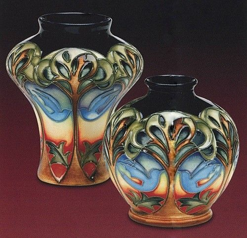 Moorcroft Pottery Eventide House The Blue Dove