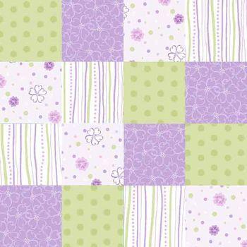 Nursery fabric 3d purple flower patch baby shower for Purple nursery fabric