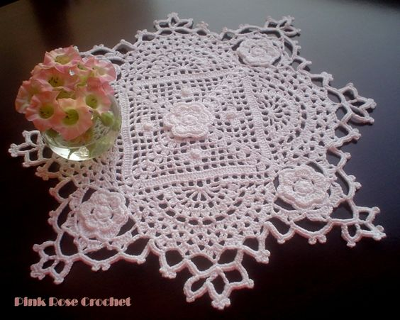 Crochet Morning Sunshine Doily Centrinho c Flor | Pink Rose Crochet pinkrosecrochet.wordpress.c...