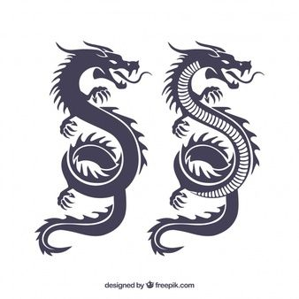 Download Dragon Silhouettes For Free Dragon Silhouette Tribal Dragon Tattoos Dragon Tattoo Simple