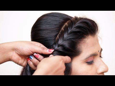 Beautiful Messy Bun With Front Puff Hairstyle Hair Style Girl Party Wedding Hairstyle 2019 Youtube Hair Puff Front Hair Styles Bridal Hair Buns