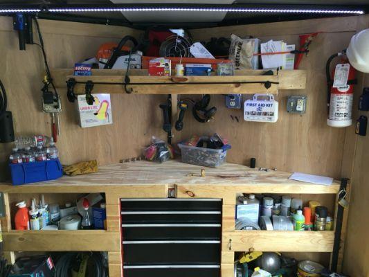 V Nose Enclosed Trailer Cabinets Trailer Shelving Enclosed
