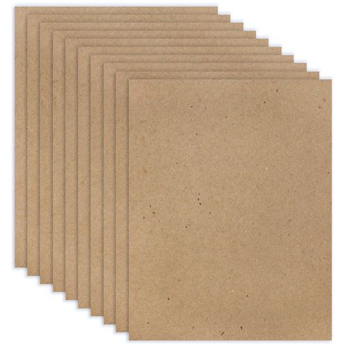 8 5 X 11 Chipboard 2x Heavy 85pt Natural Ten Sheets Craft Stash Create And Craft Scrapbook Paper Crafts
