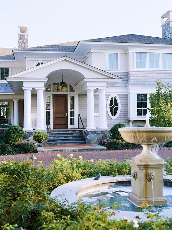 302 Best Images About Front Facade Kerb Appeal On Pinterest: A Month, Front Stoop And Front Steps
