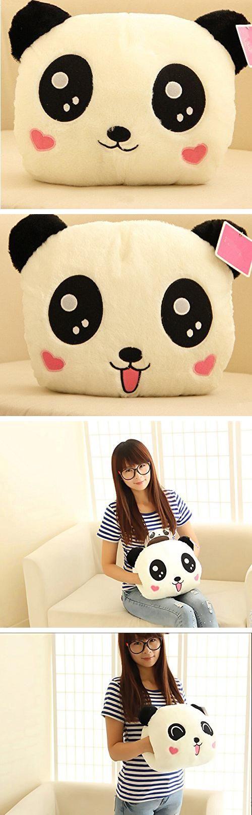 Niedliches #panda #kissen. Der kreative und süße Handwärmer getarnt als Plüschtier /// find mich damit:  #spielzeug Stofftier Plush Toy Plush Doll Stuffed Toy #Weihnachtsgeschenke Geburtstagsgeschenke Geschenk Panda Pillow warm and cute