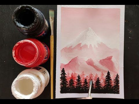 Easy Poster Colour Scenery Painting Ideas For Beginners Youtube