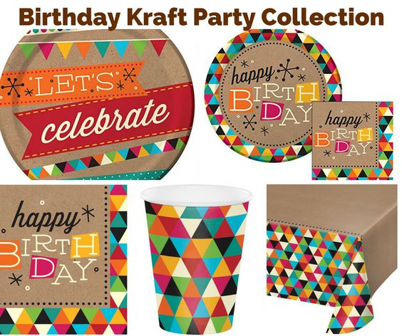 Birthday Kraft Party Banner