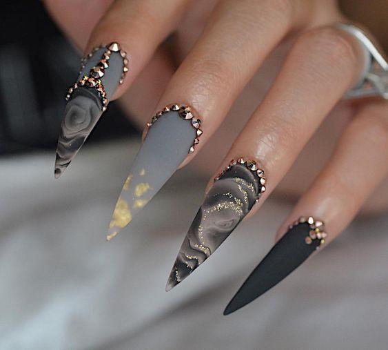 70 Cool Stiletto Nail Ideas You Ll Love To Try Stiletto Nail