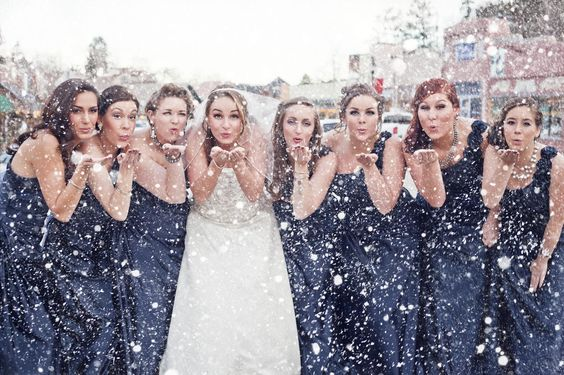 Pretty wintry shot with your ladies!:
