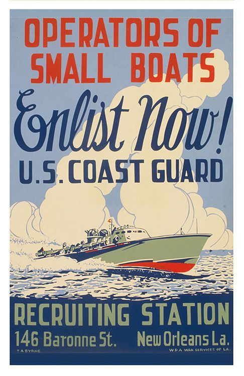 Vintage U.S. Coast Guard Recruiting Poster