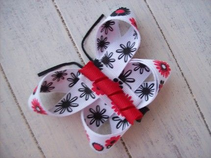 I Like Big Bows: What? You need another butterfly hair clip tutorial? OK!