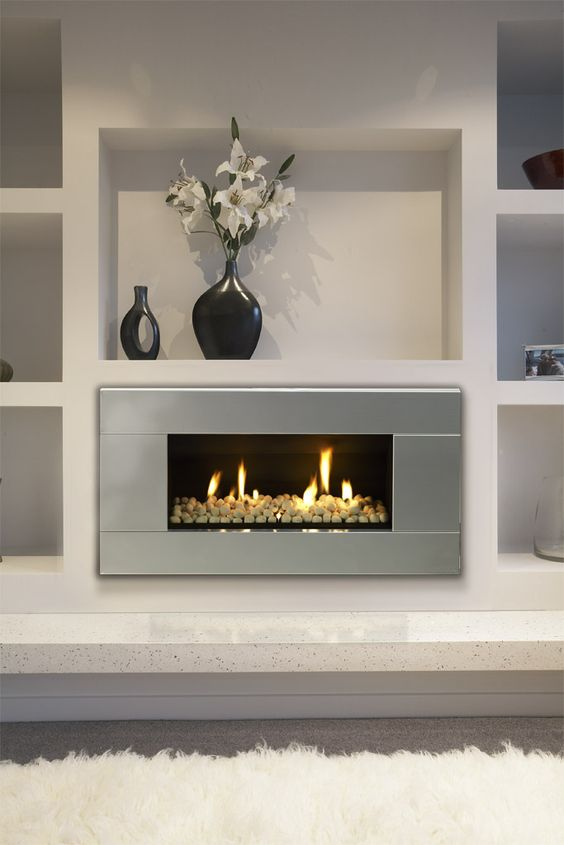 Gas fireplaces fireplaces and indoor on pinterest for Indoor chimney ideas