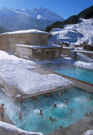 Natural hot spring in Bad Gastein, Austria