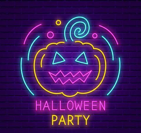 Halloween Neon Sign | Neon signs, Neon wallpaper, Neon